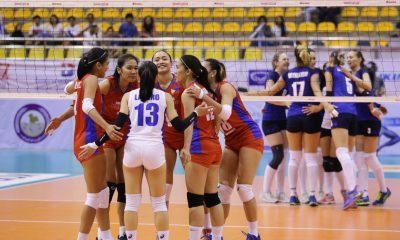 Tiebreaker Times Philippines survives Kazakhstan, finishes in ninth place News Volleyball  Philippine Women's National Volleyball Team Mylene Paat Melissa Gohing Kazakhstan (Volleyball) Jia Morado Dynara Syzdykova Dyana Grokhotova Cha Cruz Alyssa Valdez 2018 AVC Cup for Women