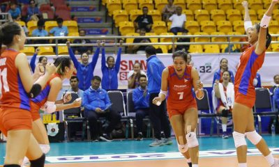 Tiebreaker Times Philippines finally shows winning form against Kazakhstan News Volleyball  Shaq delos Santos Philippine Women's National Volleyball Team Melissa Gohing Kazakhstan (Volleyball) Jasmine Nabor Anastassiya Rostovchsihikova Alyssa Valdez 2018 AVC Cup for Women