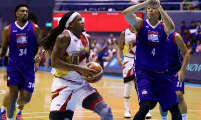 Tiebreaker Times AZ Reid plays through injury, finishes with triple-double Basketball News PBA  San Miguel Beermen PBA Season 43 AZ Reid 2018 PBA Governors Cup