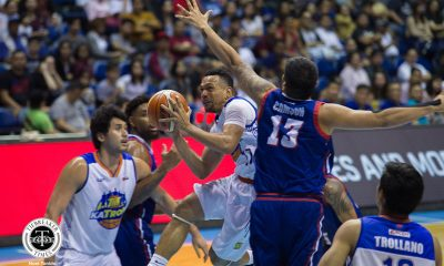 Tiebreaker Times Jayson Castro saves the day as Nash Racela-less TNT snaps skid with OT win over Columbian Basketball News PBA  TNT Katropa Terrence Romeo Russel Escoto Roger Pogoy Rashawn McCarthy PBA Season 43 Jerramy King Jayson Castro Eric Gonzales Columbian Dyip Anthony Semerad Akeem Wright 2018 PBA Governors Cup