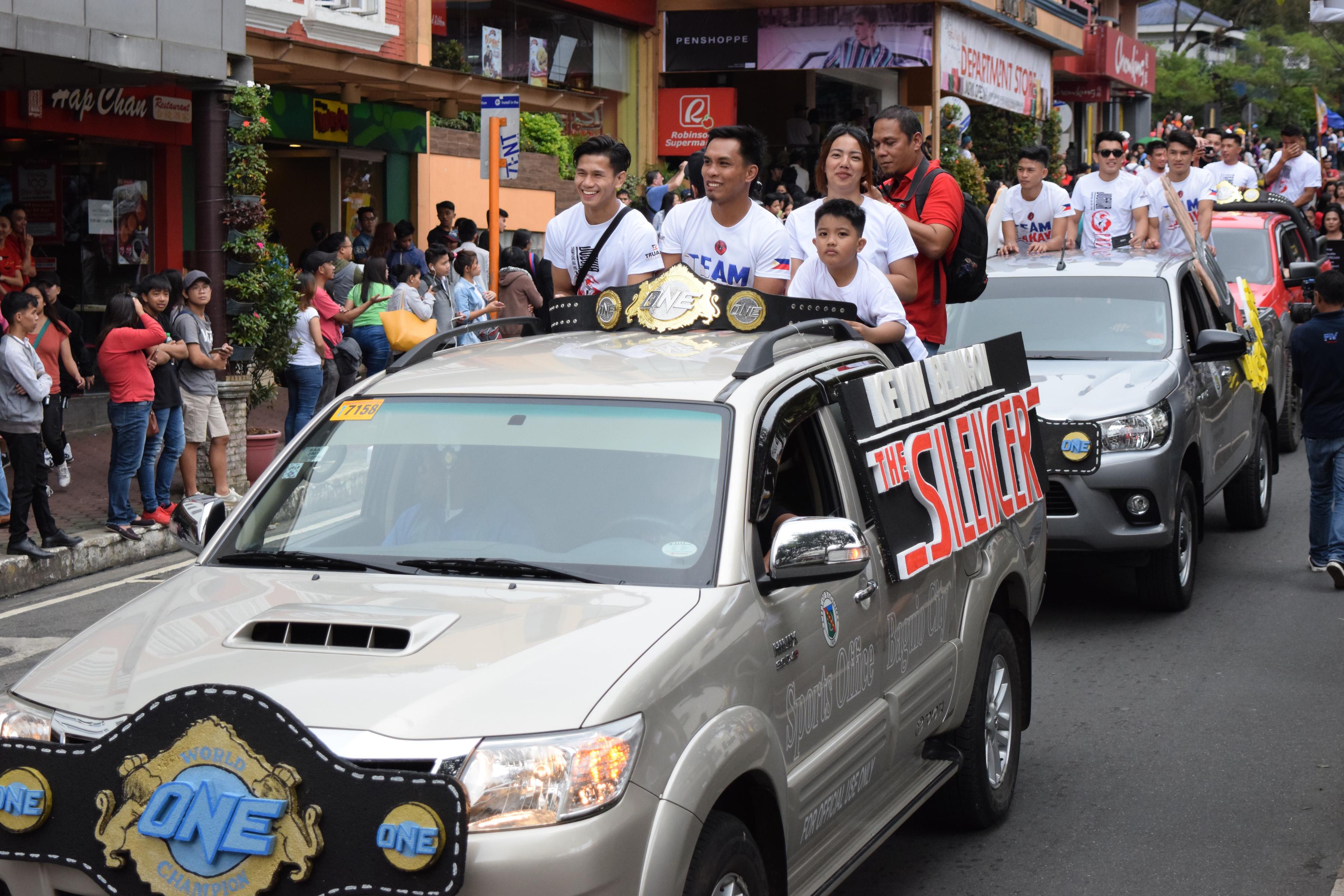 Tiebreaker Times Baguio City Parade celebrates Team Lakay Mixed Martial Arts News ONE Championship  Team Lakay Kevin Belingon Joshua Pacio John Cris Corton Geje Eustaquio Edward Kelly Danny Kingad