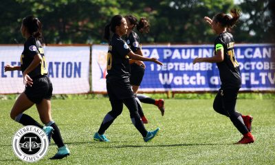 Tiebreaker Times PFFWL Roundup: Title-hungry UST sits alone at the top ADMU DLSU Football News UP UST  UST Women's Football UP Women's Football Tuloy FC Shelah Mae Cadag Sharmine Siaotong Sara Castaneda Ronalyn Lagata Philip Dinglasan PFF Women's League Season 2 OutKast FC Mary Rose Obra Katya Pe Jaypee Merida Inna Palacios Hiraya FC Hazel Lustan Green Archers United Gely Tiu DLSU Women's Football Daniella Gonzales Charisa Lemoran Cecilia Dayrit Cassandra Alleje Camille Rodriguez Ateneo Women's Football Anto Gonzales Alvin Ocampo Aging Rubio