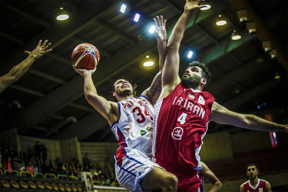 Tiebreaker Times Gilas falters late in highly-physical affair against Iran 2019 FIBA World Cup Qualifiers Basketball Gilas Pilipinas News  Yeng Guiao Sajjad Mashayehki Nik Khahbahrami Iran (Basketball) Gilas Elite Christian Standhardinger Arsalan Kazemi 2019 FIBA World Cup Asian Qualifiers