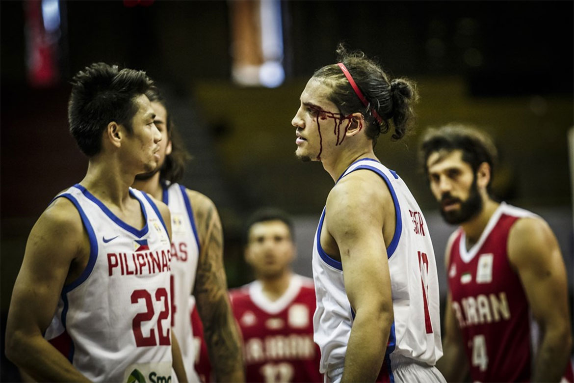Tiebreaker Times Things get physical between Gilas and Iran Basketball Gilas Pilipinas News  Marcio Lassiter Iran (Basketball) Gilas Elite Beau Belga 2019 FIBA World Cup Qualifiers