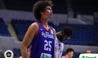 Tiebreaker Times Gilas averts disaster against Qatar, maintains lead over Japan 2019 FIBA World Cup Qualifiers Basketball Gilas Pilipinas News  Yeng Guiao Tim Lewis Tanguy Ngombo Suliman Abdi Stanley Pringle Scottie Thompson Qatar (Basketball) Mohd Mohammed Japeth Aguilar Gilas Elite Beau Belga 2019 FIBA World Cup Qualifiers