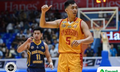 Tiebreaker Times Nothing personal for Allyn Bulanadi as San Sebastian gets back at JRU Basketball NCAA News SSC-R  San Sebastian Seniors Basketball NCAA Season 94 Seniors Basketball NCAA Season 94 Egay Macaraya Allyn Bulanadi
