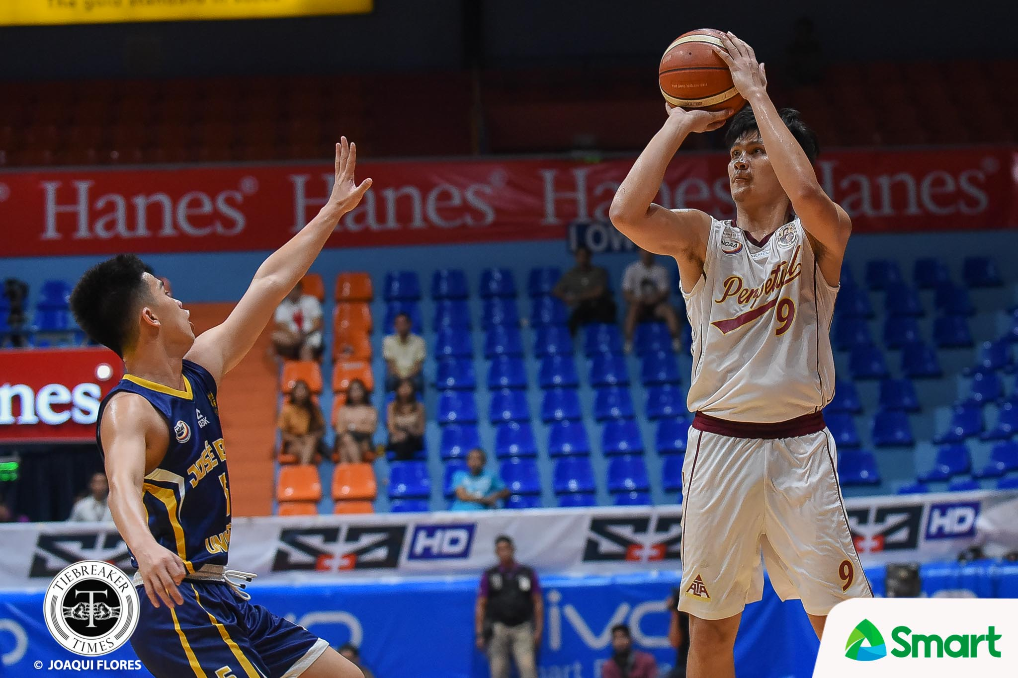 Tiebreaker Times AJ Coronel leads Perpetual past also-ran JRU for share of fourth Basketball JRU NCAA News UPHSD  Vergel Meneses Prince Eze Perpetual Seniors Basketball NCAA Season 94 Seniors Basketball NCAA Season 94 Leo Esguerra JRU Seniors Basketball Jielo Razo Jed Mendoza Frankie Lim AJ Coronel