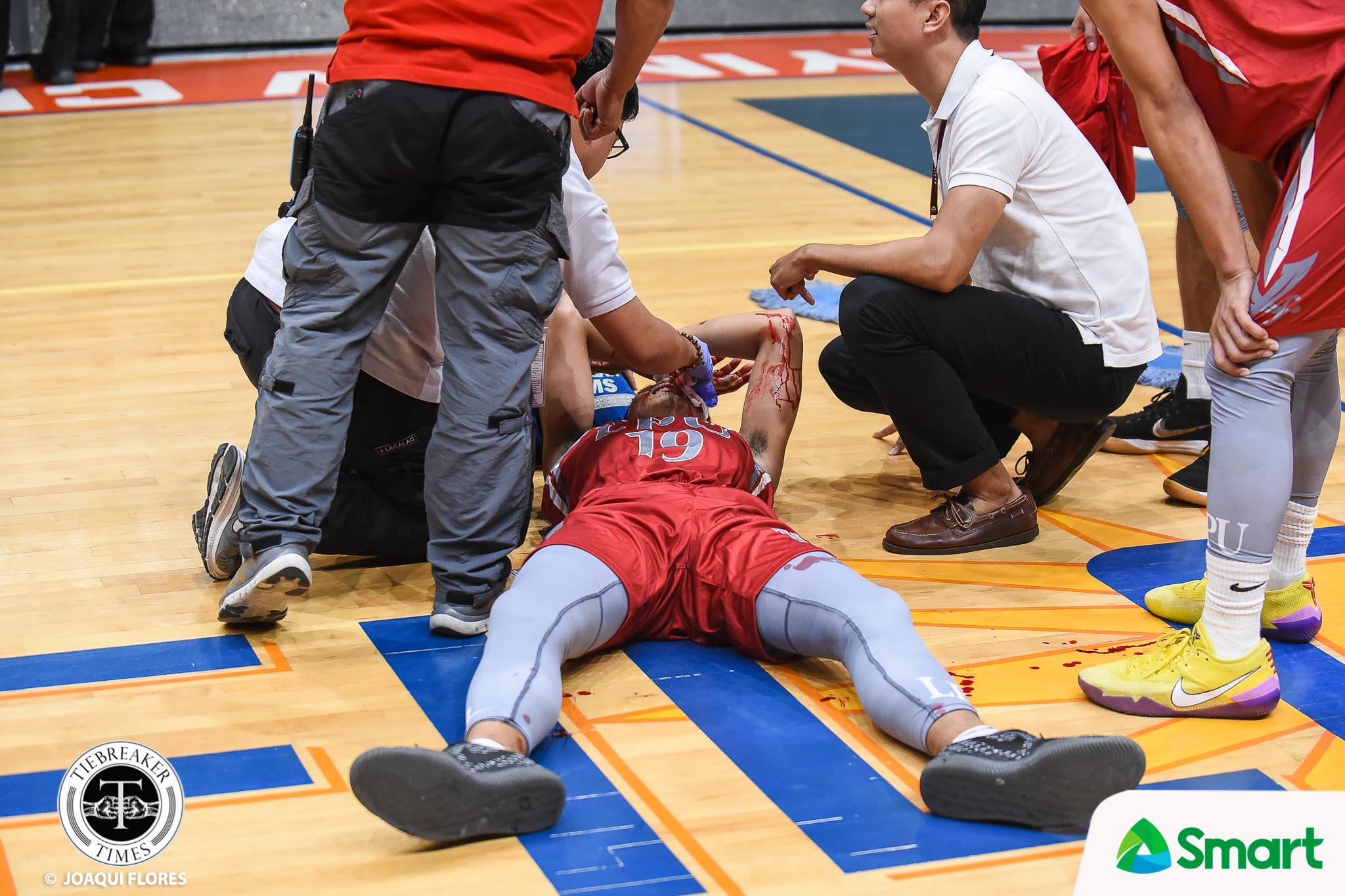 Tiebreaker Times Jayvee Marcelino rushed to hospital Basketball LPU NCAA News  Topex Robinson NCAA Season 94 Seniors Basketball NCAA Season 94 Lyceum Seniors Basketball Jayvee Marcelino