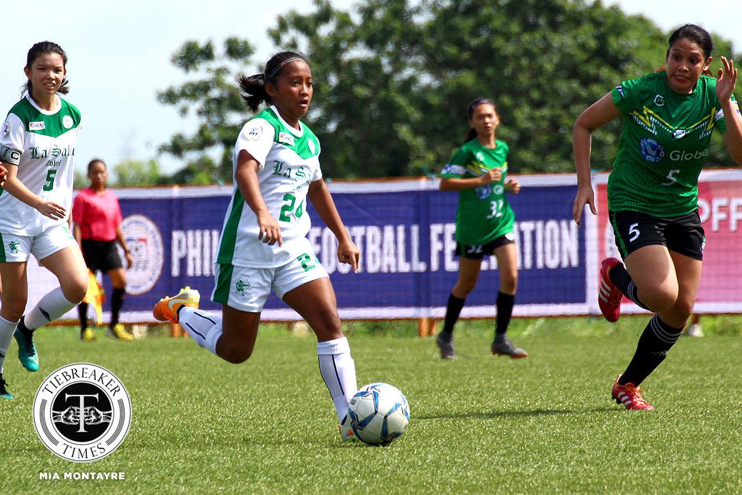 PFFWL-2018-M1-Zobel-def-GAU-FC-Cristobal Zobel nabs first win as UST, OutKast FC stay perfect ADMU FEU Football News PFF Women's League UP UST  - philippine sports news
