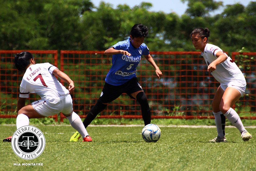 PFFWL-2018-M2-OutKast-FC-def-UP-Cabalan Zobel nabs first win as UST, OutKast FC stay perfect ADMU FEU Football News PFF Women's League UP UST  - philippine sports news