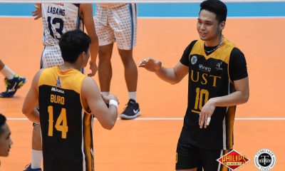 Tiebreaker Times UST books school's first-ever PVL finals berth AdU News PVL UST Volleyball  UST Men's Volleyball Timothy Tajanlangit Pao Pablico Odjie Mamon MAnuel Medina Kim Sawal Joshua Umandal Genesis Redido Domeng custodio Adamson Men's Volleyball 2018 PVL Season 2018 PVL Men's Collegiate Conference