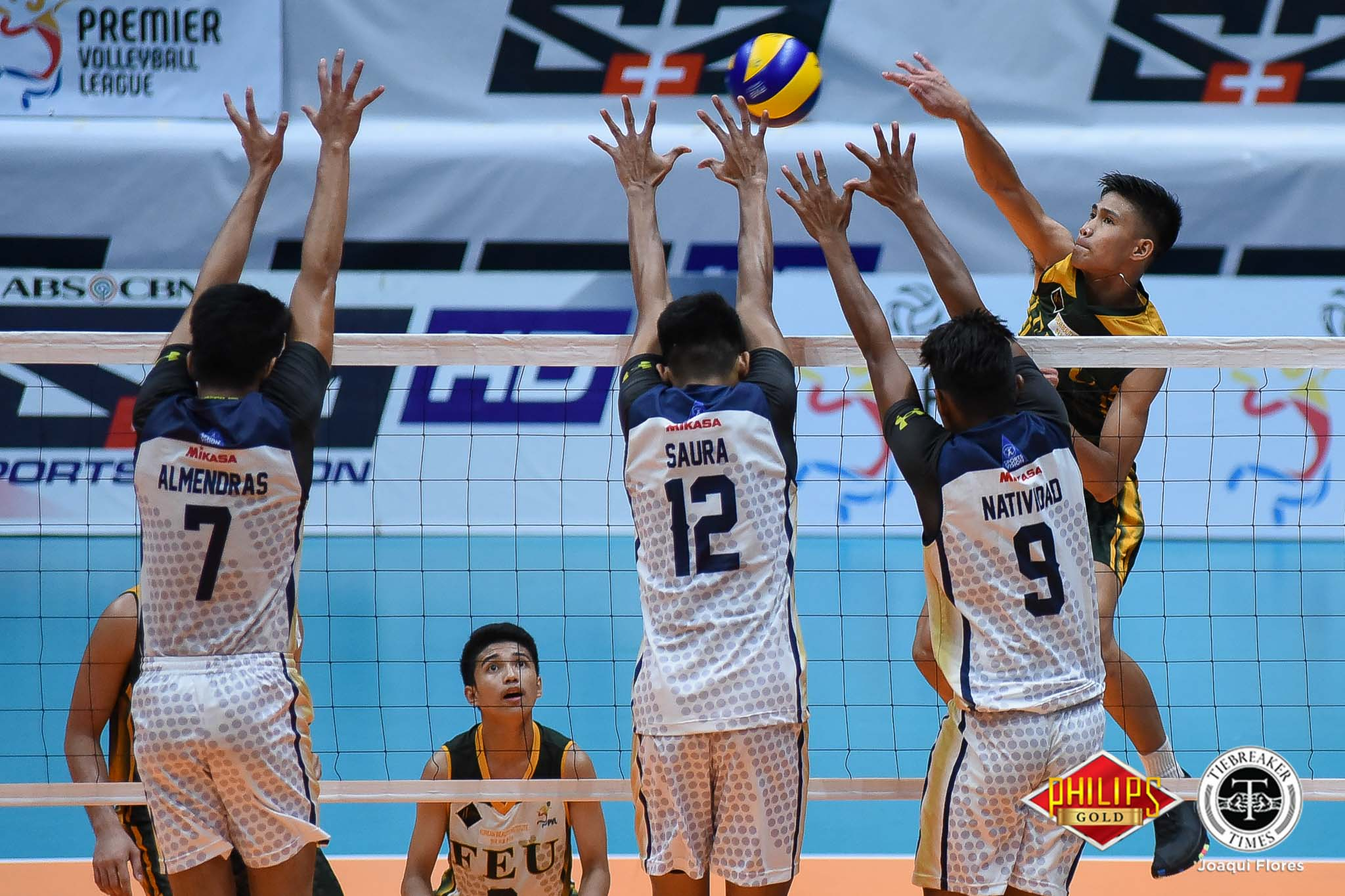 Tiebreaker Times Tamaraws takes Game 1 from wasteful Bulldogs FEU News NU PVL Volleyball  Rey Diaz Owen Suarez NU Men's Volleyball Nico Almendras Mark Calado JP Bugaoan Joshua Barrica FEU Men's Volleyball Dante Alinsunurin Bryan Bagunas 2018 PVL Season 2018 PVL Men's Collegiate Conference