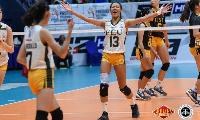 Tiebreaker Times FEU drags UST to do-or-die Game Three FEU News PVL UST Volleyball  UST Women's Volleyball Milena Alessandrini Kyle Negrito Jerrili Malabanan Ian Fernandez George Pascua FEU Women's Volleyball Eya Laure Celine Domingo Buding Duremdes 2018 PVL Women's Collegiate Conference 2018 PVL Season