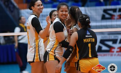 Tiebreaker Times Eya Laure vows to give idol Aiza Maizo better show next time News PVL UST Volleyball  UST Women's Volleyball Eya Laure Aiza Maizo-Pontillas 2018 PVL Women's Collegiate Conference 2018 PVL Season