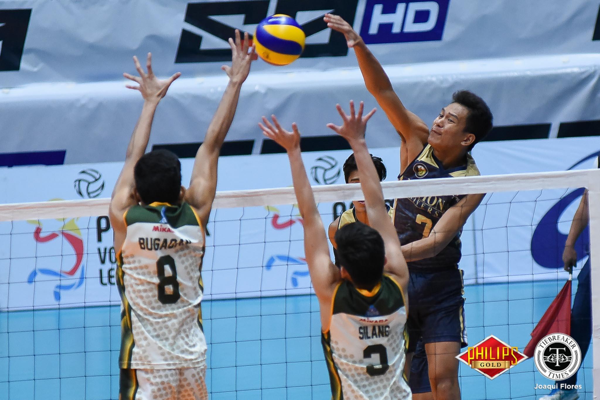 Tiebreaker Times NU-Pilipinas blasts Malaysia to advance to AUG semis News NU Volleyball  NU Men's Volleyball Dante Alinsunurin Bryan Bagunas Angelo Almendras 2018 ASEAN University Games