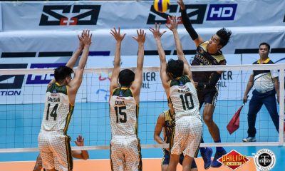 Tiebreaker Times Bryan Bagunas hammers 30 as NU forces Game 3 FEU News NU PVL Volleyball  Ricky Marcos Rey Diaz NU Men's Volleyball Kim Malabunga Kim Dayandante Francis Saura FEU Men's Volleyball Dong dela Cruz Byran Bagunas 2018 PVL Season 2018 PVL Men's Collegiate Conference