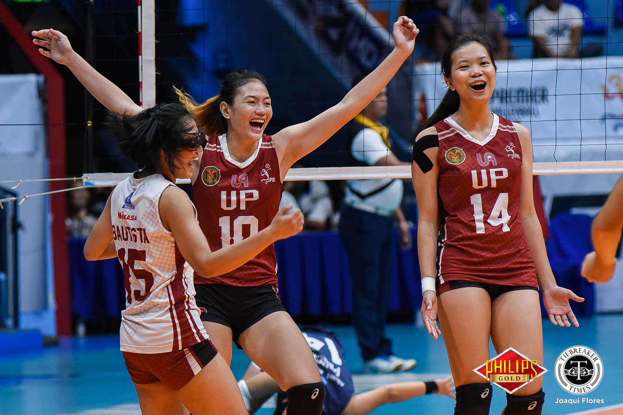 Tiebreaker Times Lady Maroons break into Finals, quell Lady Falcons AdU News PVL UP Volleyball  UP Women's Volleyball Rem Altomea Marian Buitre Lea Perez Isa Molde Godfrey Okumu Eli Soyud Ayel Estranero Airess Padda Adamson Women's Volleyball 2018 PVL Women's Collegiate Conference 2018 PVL Season
