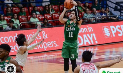 Tiebreaker Times Aljun Melecio finds touch as La Salle continues dominance over UE Basketball DLSU News UAAP UE  UE Men's Basketball UAAP Season 81 Men's Basketball UAAP Season 81 Philip Manalang Louie Gonzalez Justine Baltazar Jollo Go Joe Silva Jason Varilla Encho Serrano DLSU Men's Basketball Alvin Pasaol Aljun Melecio