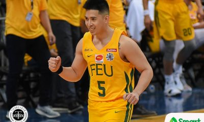 Tiebreaker Times FEU vets flex experience over La Salle for first win Basketball DLSU FEU News UAAP  UAAP Season 81 Men's Basketball UAAP Season 81 Santi Santillan Olsen Racela Louie Gonzalez Kenneth Tuffin FEU Men's Basketball DLSU Men's Basketball Axel Inigo Arvin Tolentino Aljun Melecio