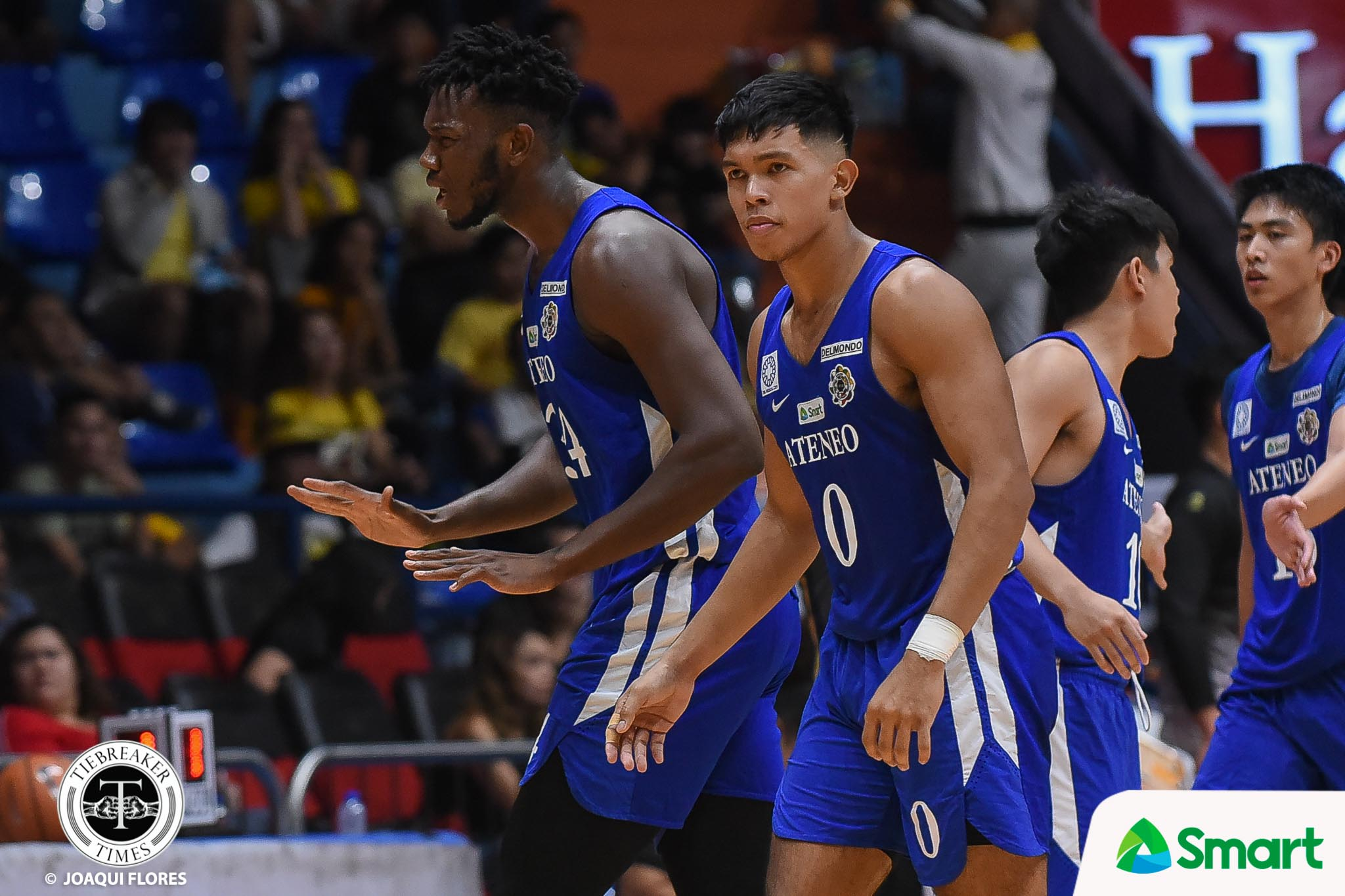 Tiebreaker Times Thirdy Ravena defends Ange Kouame: 'He's  probably the most gentle guy out there' ADMU Basketball News UAAP  UAAP Season 81 Men's Basketball UAAP Season 81 Thirdy Ravena Ateneo Men's Basketball Angelo Kouame