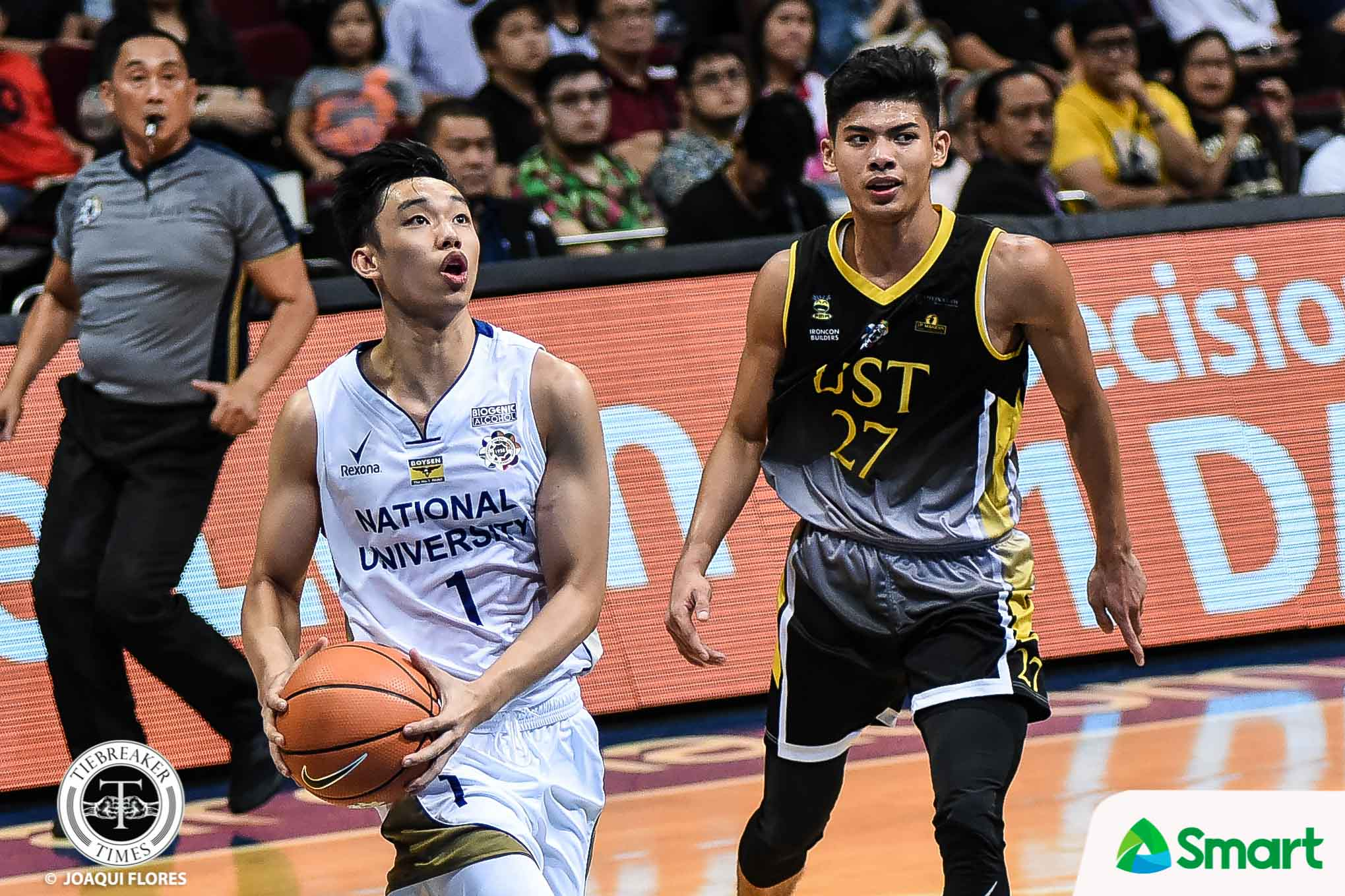 Tiebreaker Times Top rookies Dave Ildefonso, CJ Cansino remain focused on team goal Basketball News NU UAAP UST  UST Men's Basketball UAAP Season 81 Men's Basketball UAAP Season 81 NU Men's Basketball Dave Ildefonso CJ Cansino