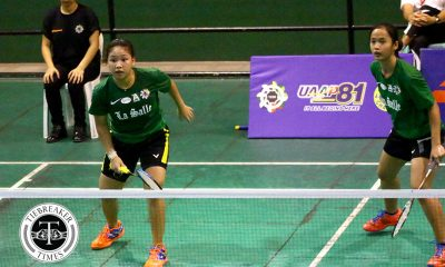 Tiebreaker Times Defending champ La Salle dominates UST for bounce back; UP, Ateneo remain unscathed ADMU AdU Badminton DLSU News UAAP UE UP UST  UST Women's Badminton UP Women's Badminton UE Women's Badminton UAAP Season 81 Women's Badminton UAAP Season 81 Tricia Opon Poca Alcala Nicole Albo Kanna Baba Jessie Francisco Jaja Andres Iyah Sevilla Geva de Vera Emjay Salapong DLSU Women's Badminton Clydel Pada Bea Felizardo Ateneo Women's Badminton Ann Maranon Angelika Paz Adamson Women's Badminton