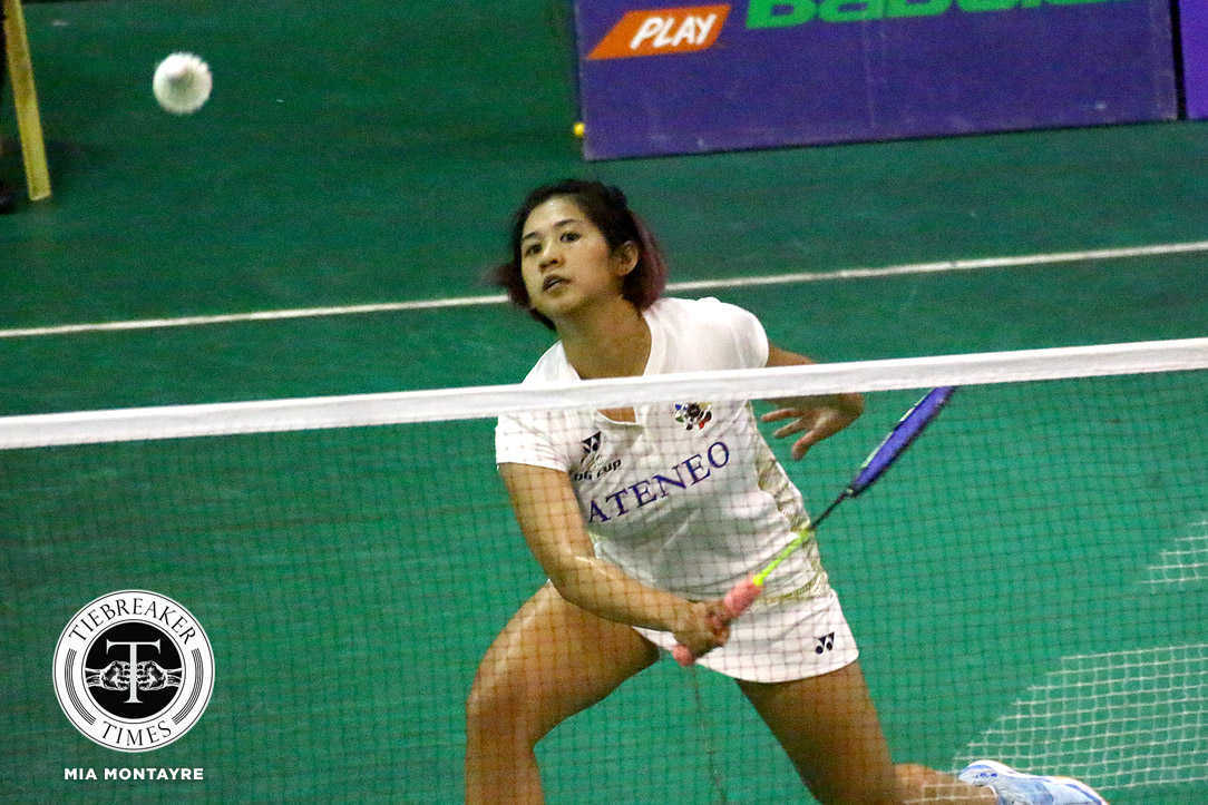 Tiebreaker Times RP ace Sarah Barredo makes dominant NU debut; UP begins redemption campaign ADMU AdU Badminton News NU UAAP UE UP UST  UST Women's Badminton UP Women's Badminton UE Women's Badminton UAAP Season 81 Women's Badminton UAAP Season 81 Tricia Opon Thea Pomar Sarah Joy Barredo Samantha Ramos NU Women's Badminton Mikaela Aquino Jessie Francisco Geva de Vera Clydel Pada Chin Santos Chanelle Lunod Bea Felizardo Ateneo Women's Badminton Ann Maranon Alyssa Roxas Adamson Women's Badminton