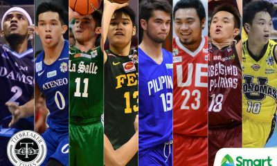 Tiebreaker Times UAAP releases Men's Basketball lineups ADMU AdU Basketball DLSU FEU News NU UAAP UE UP UST  UST Men's Basketball UP Men's Basketball UE Men's Basketball UAAP Season 81 Men's Basketball UAAP Season 81 NU Men's Basketball DLSU Men's Basketball Ateneo Men's Basketball Adamson Men's Basketball