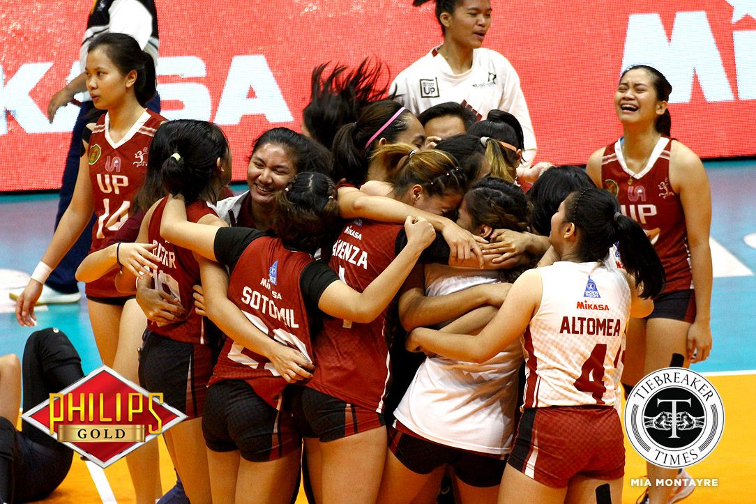 Tiebreaker Times Lady Maroons look to exorcise 'PVL curse' News PVL UP Volleyball  UP Women's Volleyball Godfrey Okumu 2018 PVL Women's Collegiate Conference 2018 PVL Season