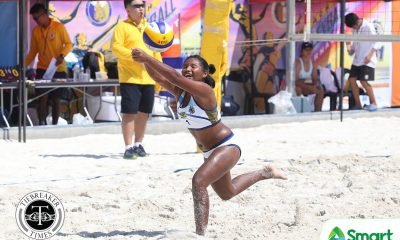Tiebreaker Times NU rookie tandem Kly Orillaneda, Antonette Landicho quick to make a splash Beach Volleyball News NU UAAP  UAAP Season 81 Women's Beach Volleyball UAAP Season 81 NU Women's Volleyball Kly Orillaneda Antonette Landicho
