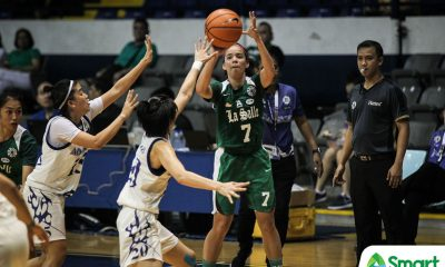 Tiebreaker Times Khate Castillo waxes hot as Lady Archers ease past Lady Falcons for first win Basketball DLSU FEU News UAAP  UAAP Season 81 Women's Basketball UAAP Season 81 Nathalie Razalo Khate Castillo Jamie Alcoy FEU Women's Basketball DLSU Women's Basketball Cholo Villanueva Camille Claro Angel Quingco