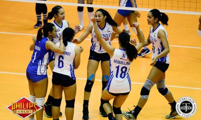 Tiebreaker Times Ateneo-Motolite bags 8th win at skidding Tacloban's expense ADMU News PVL Volleyball  Vanie Gandler Tacloban Fighting Warays Oliver Almadro Nes Pamilar Maddie Madayag Heather Guino-o Dimdim Pacres Deanna Wong Dani Ravena Bea De Leon Ateneo-Motolite Lady Eagles 2018 PVL Season 2018 PVL Open Conference