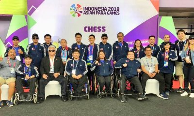 Tiebreaker Times Gold rush in Chess for Team Pilipinas Chess News Para Sports  Sander Severino Redor Menandro Jasper Rom Israel Peligro Henry Lopez Arman Subaste 2018 Asian Para Games
