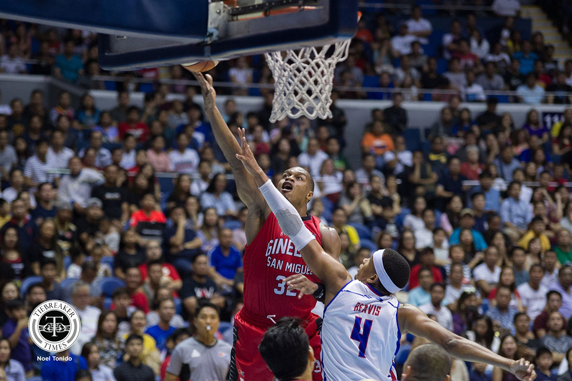 Tiebreaker Times Justin Brownlee lauds Ginebra for stepping up for him: 'One man falls, your brother is there to pick you up' Basketball News PBA  PBA Season 43 Justin Brownlee Barangay Ginebra San Miguel 2018 PBA Governors Cup