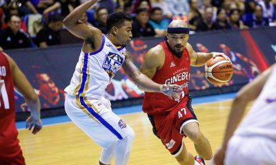 Tiebreaker Times Mark Caguioa nails 10k as Ginebra romps NLEX Basketball News PBA  Yeng Guiao Tim Cone PBA Season 43 NLEX Road Warriors Mark Caguioa Larry Fonacier LA Tenorio Justin Brownlee Japeth Aguilar Barangay Ginebra San Miguel Aaron Fuller 2018 PBA Governors Cup