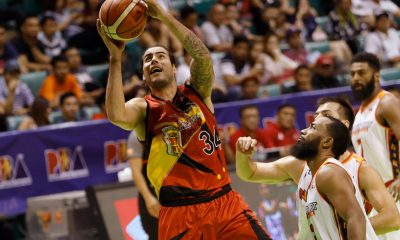 Tiebreaker Times Christian Standhardinger's 20-20 game helps San Miguel escape NorthPort Basketball News PBA  Stanley Pringle Sean Anthony San Miguel Beermen Rashad Woods Pido Jarencio PBA Season 43 Northport Batang Pier Marcio Lassiter Leo Austria Kevin Murphy Jonathan Grey Christian Standhardinger Alex Cabagnot 2018 PBA Governors Cup