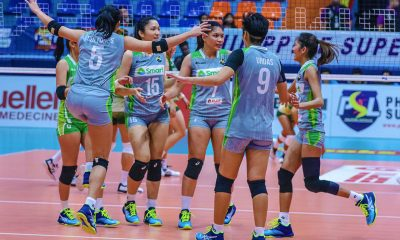 Tiebreaker Times Smart flexes revamped form against Sta. Lucia News PSL Volleyball  Sta. Lucia Lady Realtors SMART Prepaid Giga Hitters Roger Gorayeb Pam Lastimosa MJ Ph Lizlee Ann Pantone Jho Mataguinot Jerrili Malabanan Jasmine Nabor Grethcel Soltones George Pascua 2018 PSL Season 2018 PSL All Filipino Conference
