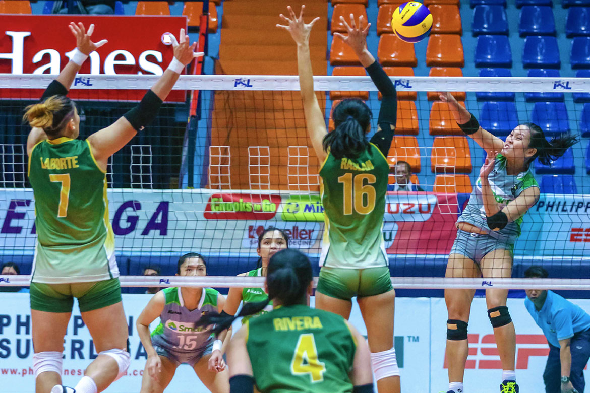 Tiebreaker Times Grethcel Soltones glad to have worked things out with PSL News PSL Volleyball  SMART Prepaid Giga Hitters Grethcel Soltones 2018 PSL Season 2018 PSL All Filipino Conference