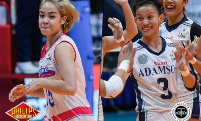 Tiebreaker Times Jema Galanza beams with pride after facing Lady Falcons AdU News PVL Volleyball  Jema Galanza Creamline Cool Smashers Akari-Adamson Lady Falcons 2018 PVL Season 2018 PVL Open Conference