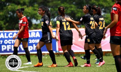 Tiebreaker Times PFFWL Roundup: UST stays perfect, extends winning streak to five ADMU DLSU FEU Football News PFF Women's League UST  Yasmin Elauria UST Women's Football Tuloy FC Tessa Bernardo Stacey Arthur Shelah Mae Cadag Sara Castaneda Rey Cuenco PFF Women's League Season 2 OutKast FC Nicole Reyes Martie Bautista Marinelle Cristobal Mariane Caparros Marian Vista Kyra Dimaandal Joyce Onrubia John Paul Merida Jenny Perez Isabella Bandoja Hiraya FC Hazel Lustan Hans-Peter Smit DLSU Women's Football De La Salle Zobel Girls Football Dai Dolino Cathy Cabrera Ateneo Women's Football Alisha Del Campo Aging Rubio