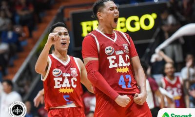 Tiebreaker Times Jerome Garcia, EAC withstand late Arellano rally for 4th win AU Basketball EAC NCAA News  NCAA Season 94 Seniors Basketball NCAA Season 94 Levi dela Cruz Junjie Ablan JP Magullano Jerome Garcia Ian Alban Hamadou Laminou Guilmer dela Torre EAC Seniors Basketball Ariel Sison Arellano Seniors Basketball