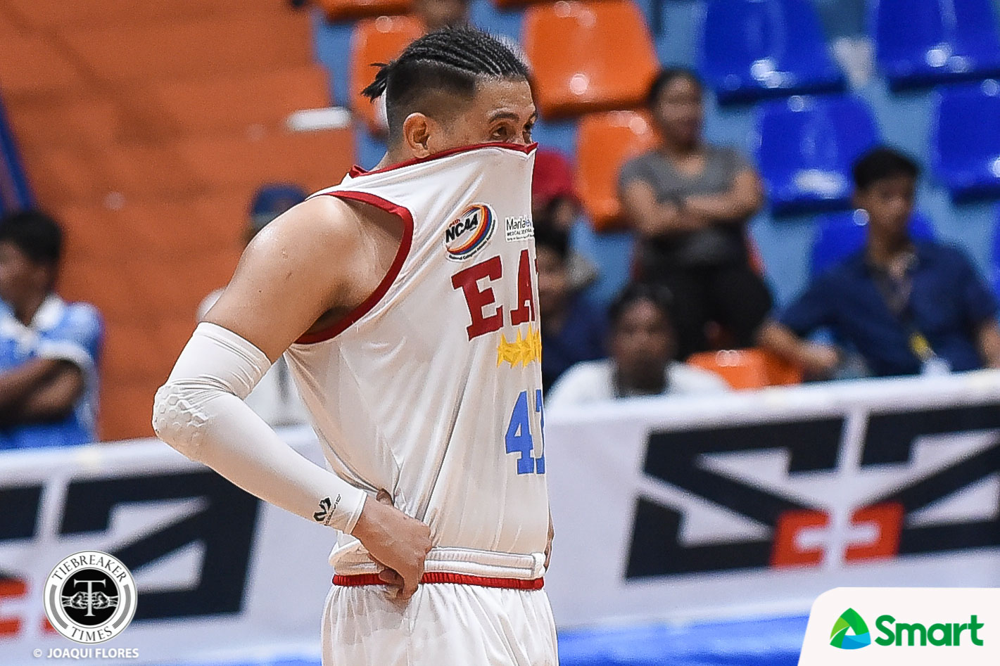 Tiebreaker Times Jerome Garcia grateful to Mike Fermin, Ariel Sison for giving him once-in-a-lifetime opportunity Basketball EAC NCAA News  NCAA Season 94 Seniors Basketball NCAA Season 94 Mike Fermin Jerome Garcia EAC Seniors Basketball Ariel Sison