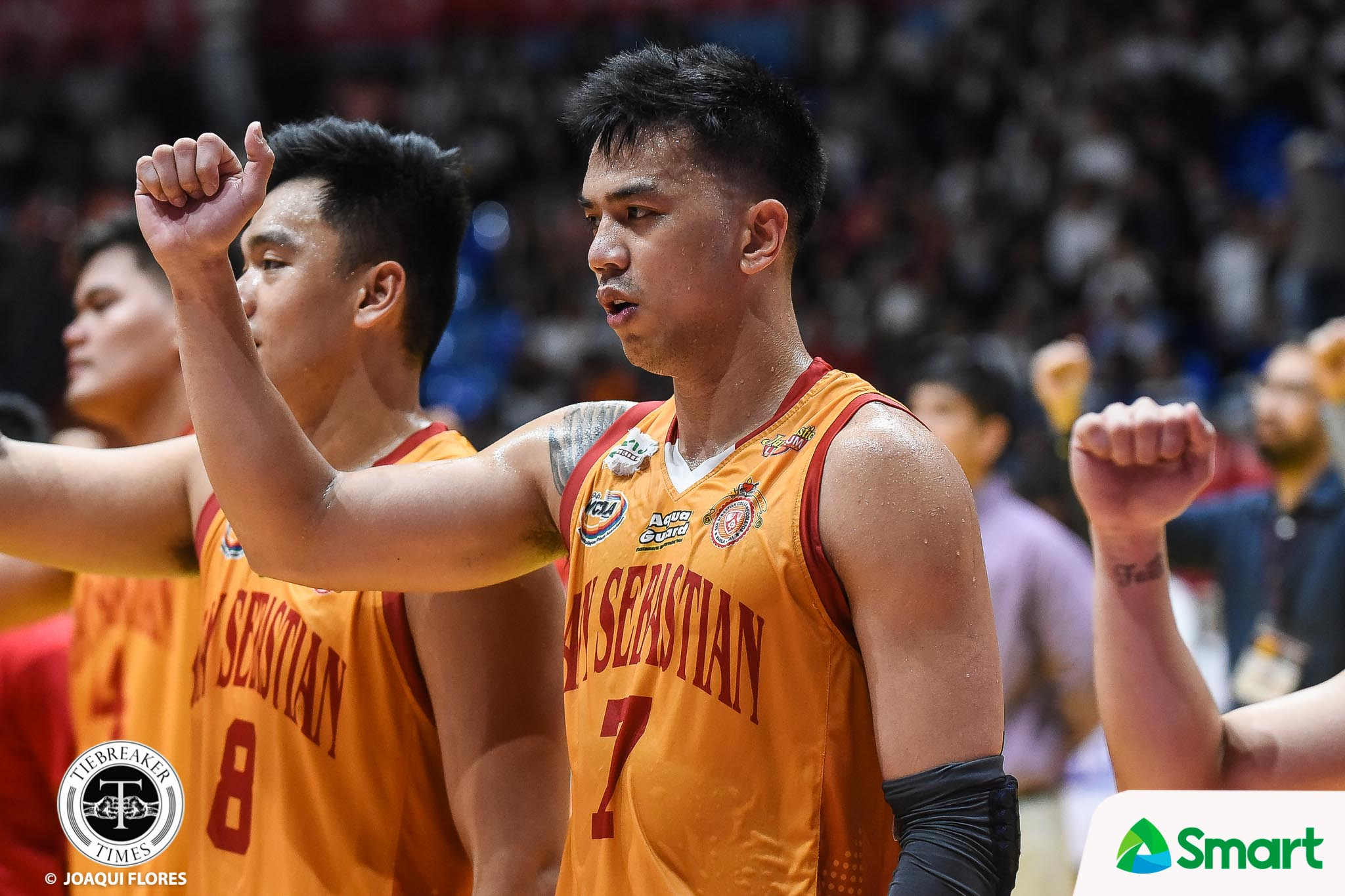 Tiebreaker Times Michael Calisaan leaves Baste as a more well-rounded player, individual Basketball NCAA News SSC-R  San Sebastian Seniors Basketball NCAA Season 94 Seniors Basketball NCAA Season 94 Michael Calisaan Egay Macaraya