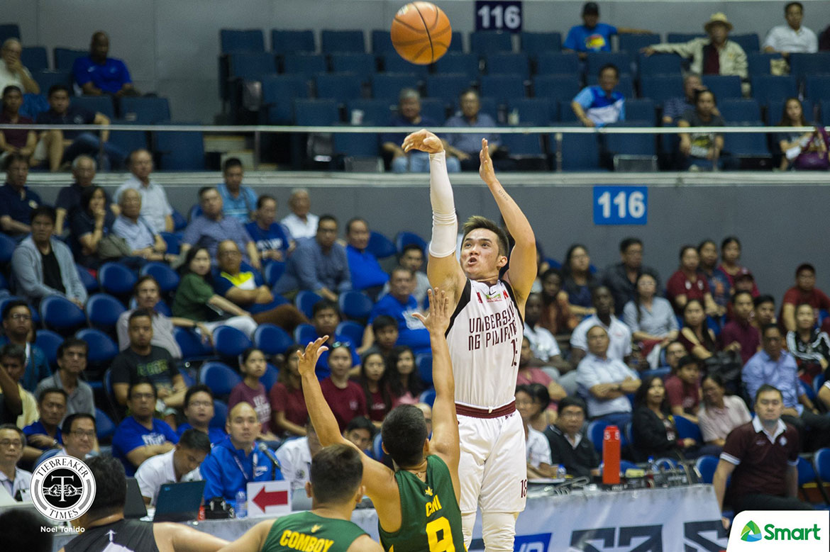 Tiebreaker Times Paul Desiderio comes alive as UP blasts shorthanded FEU Basketball FEU News UAAP UP  UP Men's Basketball UAAP Season 81 Men's Basketball UAAP Season 81 Paul Desiderio Olsen Racela FEU Men's Basketball Bo Perasol