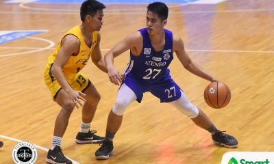 Tiebreaker Times Being an Ateneo point guard means that SJ Belangel could not call his seniors 'kuya' ADMU Basketball News UAAP  UAAP Season 81 Men's Basketball UAAP Season 81 SJ Belangel Sandy Arespacochaga Ateneo Men's Basketball