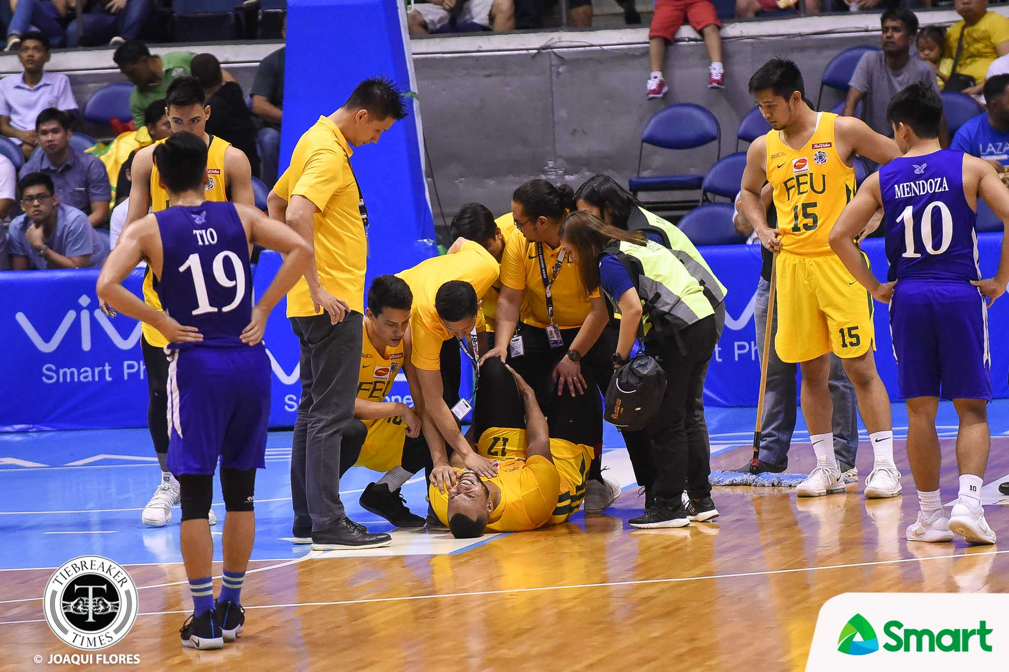 Tiebreaker Times Prince Orizu suffers high ankle sprain, remains day-to-day Basketball FEU News UAAP  UAAP Season 81 Men's Basketball UAAP Season 81 Prince Orizu FEU Men's Basketball