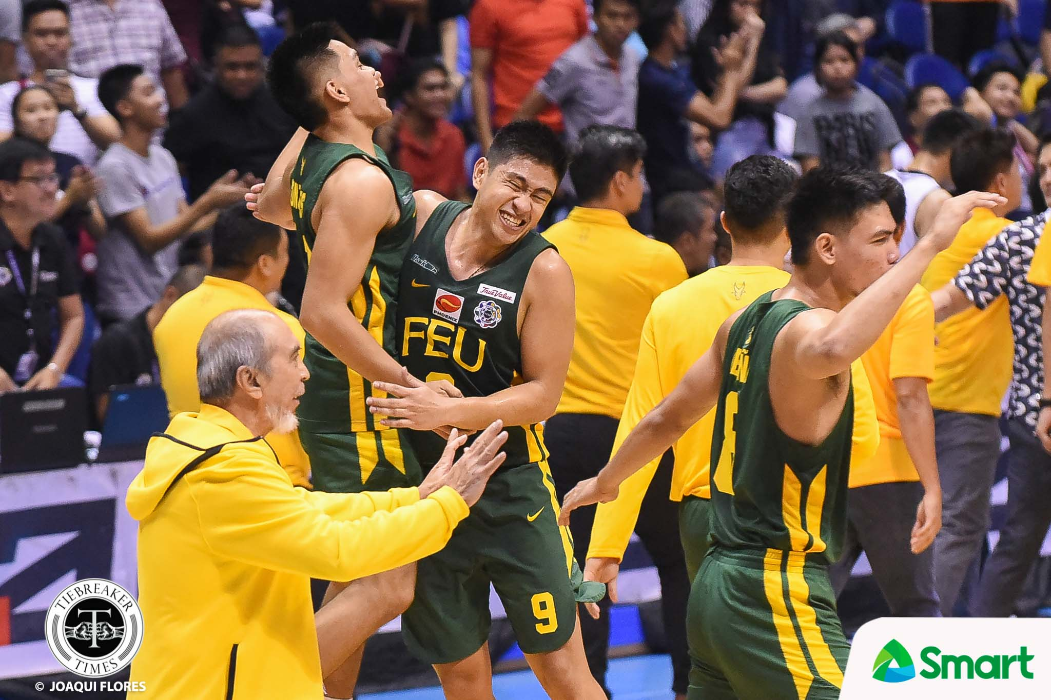 Tiebreaker Times FEU hands Adamson first loss AdU Basketball FEU News UAAP  UAAP Season 81 Men's Basketball UAAP Season 81 Simon Camacho Sean Manganti Prince Orizu Papi Sarr Olsen Racela Jerrick Ahanmisi Hubert Cani Franz Pumaren FEU Men's Basketball Arvin Tolentino Adamson Men's Basketball