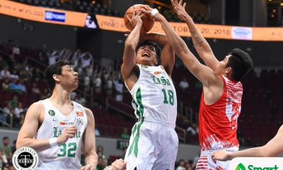 Tiebreaker Times La Salle cruises past UE for joint third Basketball DLSU News UAAP UE  UE Men's Basketball UAAP Season 81 Men's Basketball UAAP Season 81 Santi Santillan Louie Gonzalez Justine Baltazar Joe Silva Encho Serrano DLSU Men's Basketball Alvin Pasaol Aljun Melecio