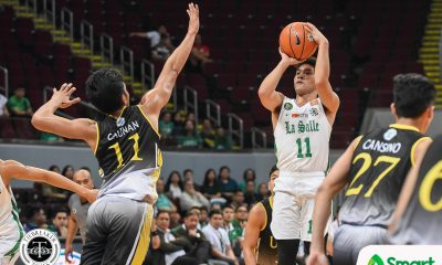 Tiebreaker Times Justine Baltazar, Aljun Melecio connive, power La Salle rout of UST Basketball DLSU News UAAP UST  Zachy Huang UST Men's Basketball UAAP Season 81 Men's Basketball UAAP Season 81 Renzo Subido Louie Gonzalez Justine Baltazar DLSU Men's Basketball Andrei Caracut Aljun Melecio Aldin Ayo