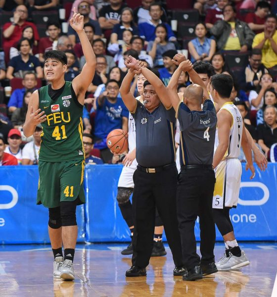 Tiebreaker Times Arvin Tolentino pleads for innocence anew after second straight ejection Basketball FEU News UAAP  UAAP Season 81 Men's Basketball UAAP Season 81 FEU Men's Basketball Arvin Tolentino